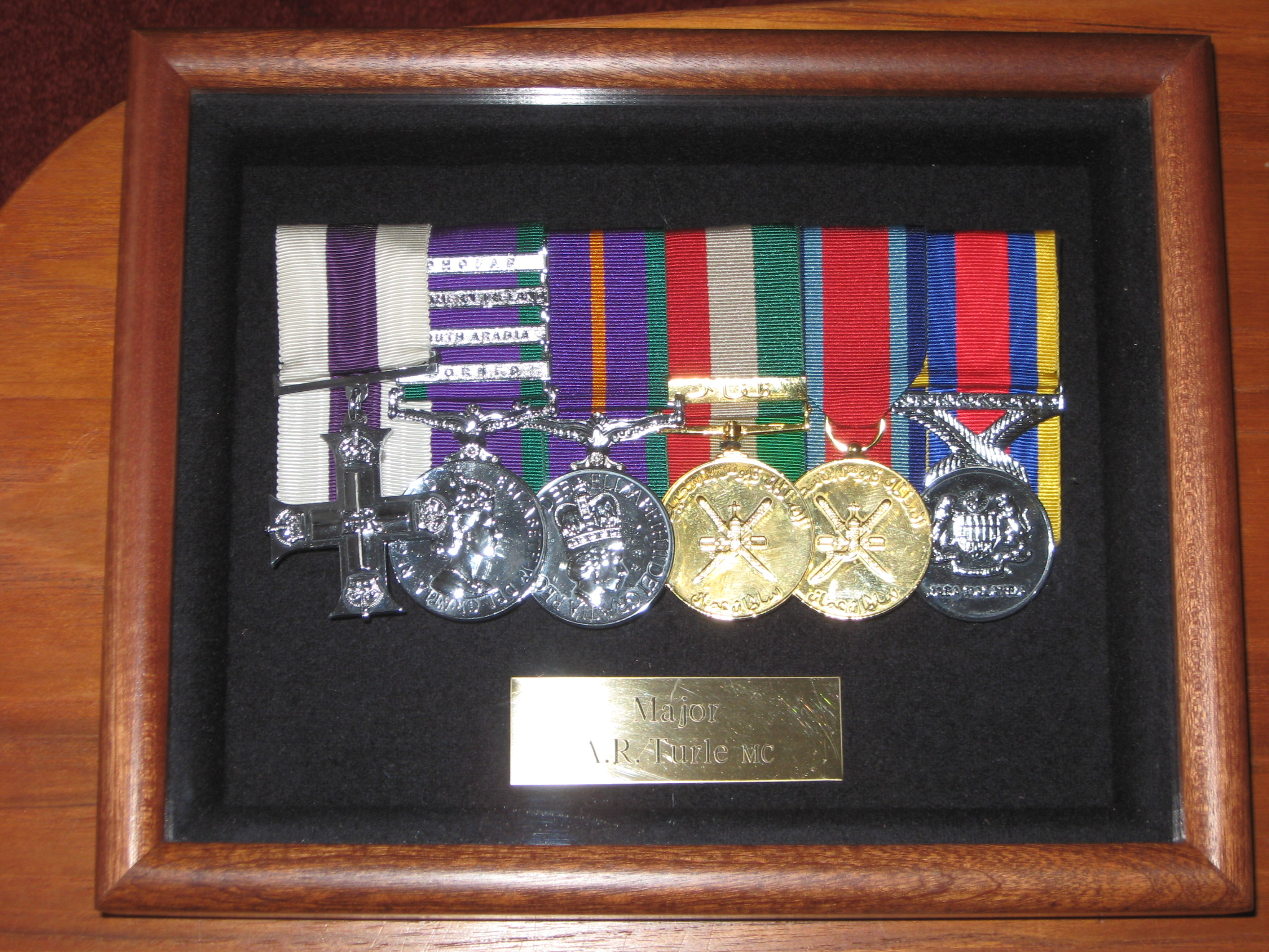 Professional Military Medal Framing Service